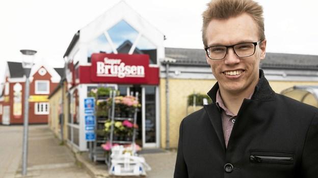 22-årige Fredrik Jørgensen er ny formand for Superbrugsen i Hals. Han er den hidtil yngste formand i Coop-regi. Foto: Allan Mortensen