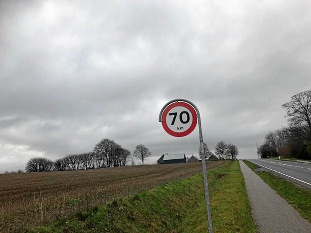 Der er kommet ny hastighedsbegrænsning ved Biersted Kirke og præstegård.Privatfoto