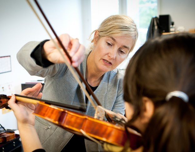 Hanne Skou, leder, fortæller, at det giver eleverne inspiration ?at få besøg af gæstelærere.Arkivfoto: Bo Lehm © Bo Lehm