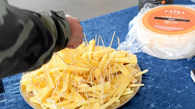 Der blev også serveret smagsprøver på nogle af slutprodukterne. Foto: Allan Mortensen Allan Mortensen