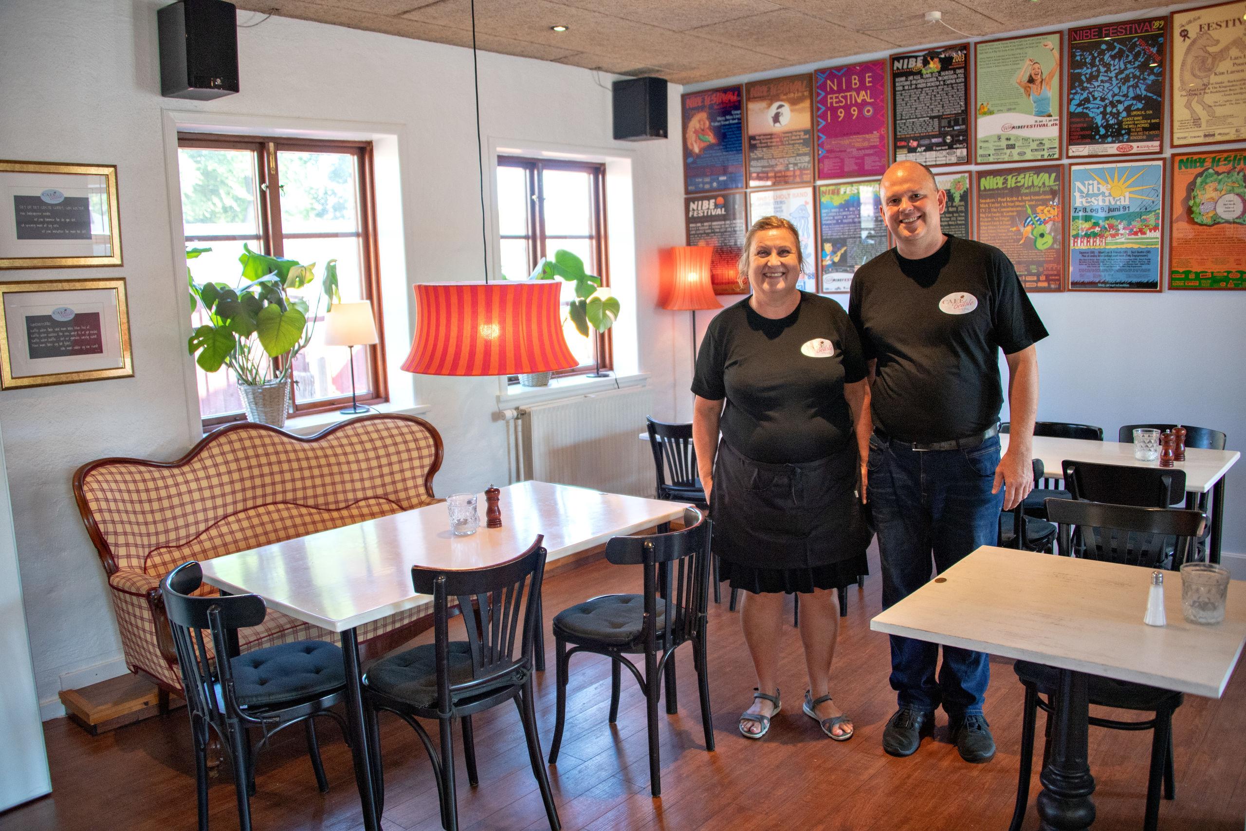 Malene og Jacob Julin har netop overtaget Café Bedste i Nibe.