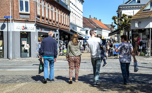 Hvor på Adelgade eller andetsteds i Hobro finder du årets butik 2019? Arkivfoto