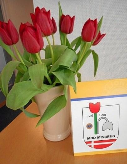 Igen i år sælger Lions Ingeborg Skeel tulipaner.Privatfoto