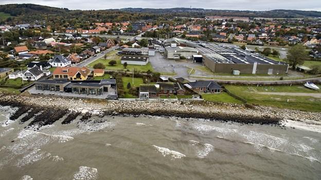 På Saltebakken vil Frederikshavn Boligforening bygge boliger på den gamle fabriksgrund. Arkivfoto: Peter Broen.