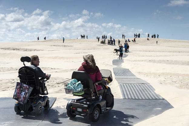 Fra onsdag 11. juli vil kørestolsbanen være lagt ud.Arkivfoto: Peter Broen