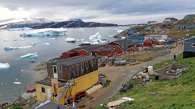 Bygden Kullorsuaq er en af de bygder, Ulrik Elmkvist Eriksen sammen med hustruen Solveig netop har besøgt. Privatfoto