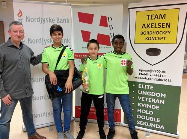 Szymon Witulski løb med sejren, mens Yousef Alhazwani blev nummer to og Grathien Niyonshuti nummer tre. Privatfoto