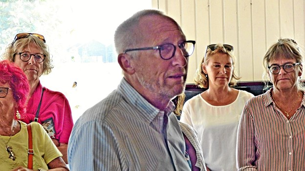 Borgmester Mogens Jespersen talte ved eceptionen. Foto: Ejlif Rasmussen Ejlif Rasmussen