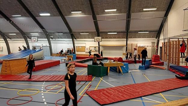 Der var etableret et meget spændende legeland af LKB-Gistrups gymnastikafdeling i forbindelse med årets fastelavnsfest. Privatfoto Privatfoto