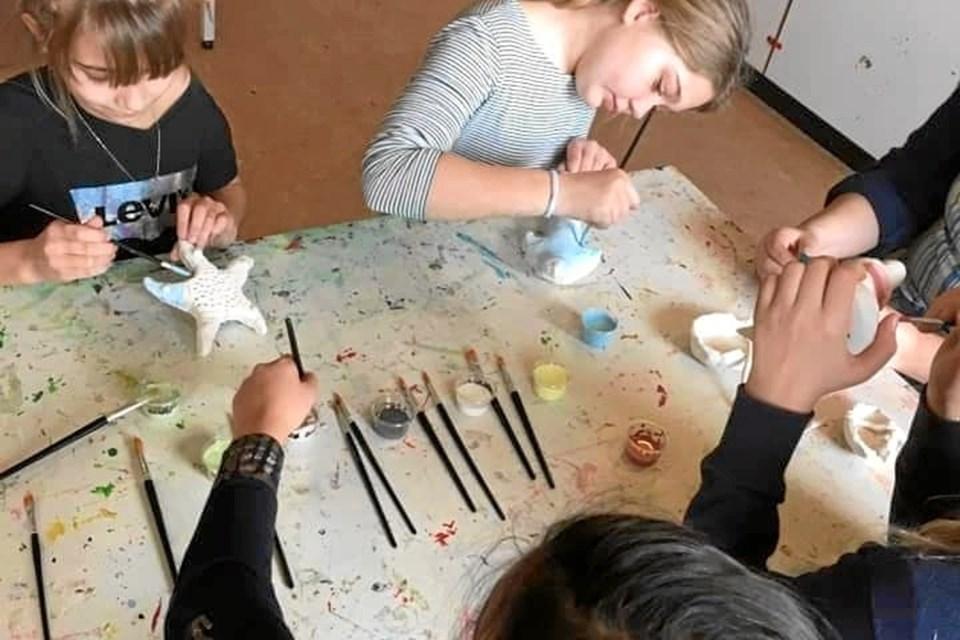 Der var mange smukke værker blandt elevernes kreationer. Privatfoto