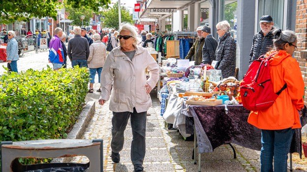 Det myldrede i Hurups gågade. Foto: Diana Holm