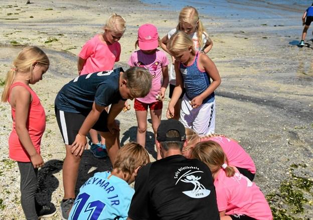 Atletikskole aktivitet på stranden Foto: Gunnar Møller Nielsen