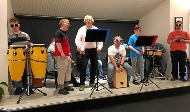 Møllegårdens Rockband spiller to koncerter til åbent hus arrangementet. Arkivfoto: Peter Broen