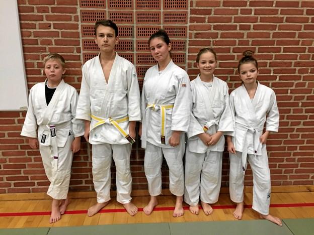Judoklubben har ikke sendt et ny billede af Raluca Amza, så her er et fra et tidligere stævne med deltagelse af kæmpere fra Skagen Judoklub. Raluca er pigen i midten. Arkivfoto