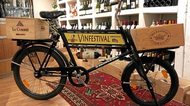 Denne cykel er middel til at udbrede kendskabet til vinfestivalen.Privatfoto