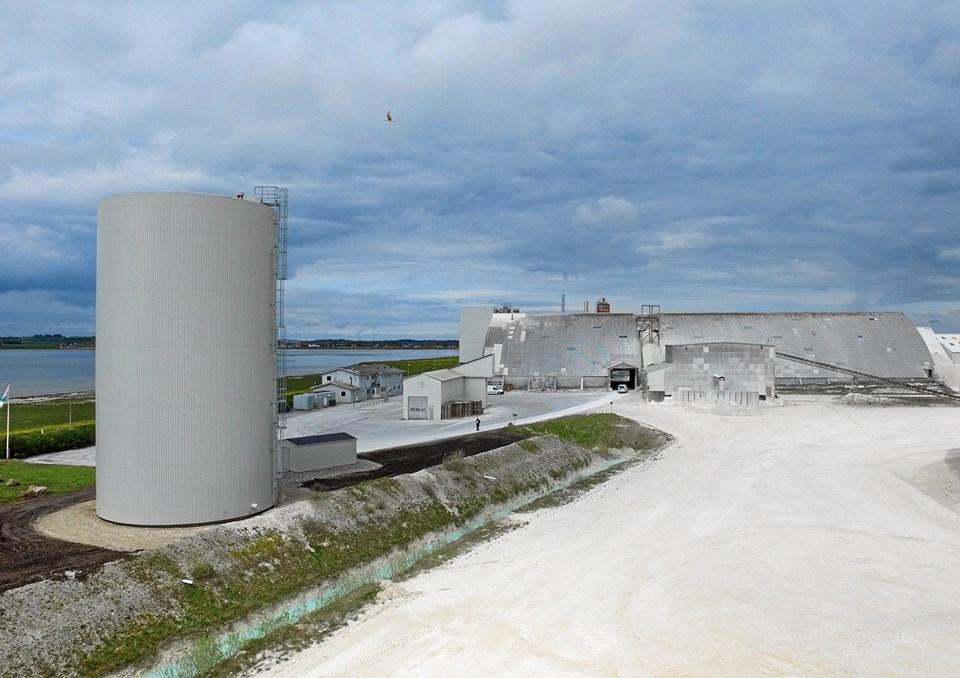 Dankalk i Aggersund - forsyner nu cirka en fjerdedel af fjernvarmekunderne i Løgstør med varme. ?Arkivfoto