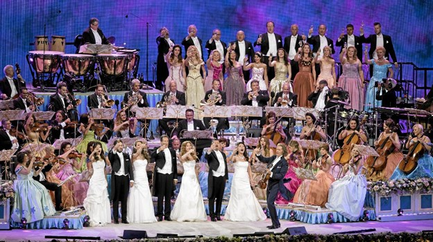 Der er altid spektakulære rammer, når André Rieu giver koncert. Foto: Presse Presse