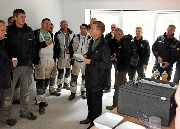 Direktør hos Sundby-Hvorup Boligselskab, Jens Erik Grøn, roste både håndværkere, entreprenører og arkitekter for byggeriet. Privatfoto