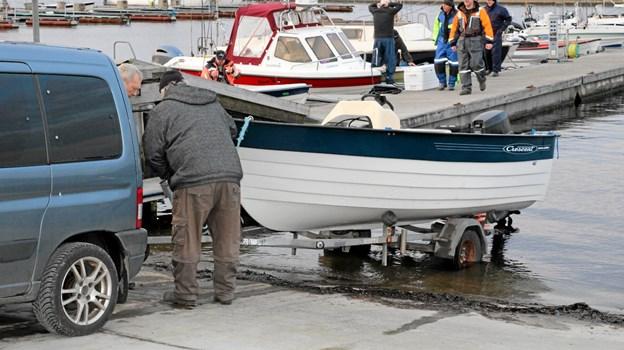 Nogle af fiskerne skulle også have deres båd i vandet. Flemming Dahl Jensen