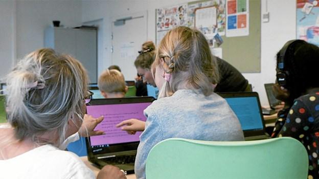 En af de klasser, som er kommet rigtig godt i gang med at læse digitalt, er 3.Y på Skagen Skole.Foto: BookBites