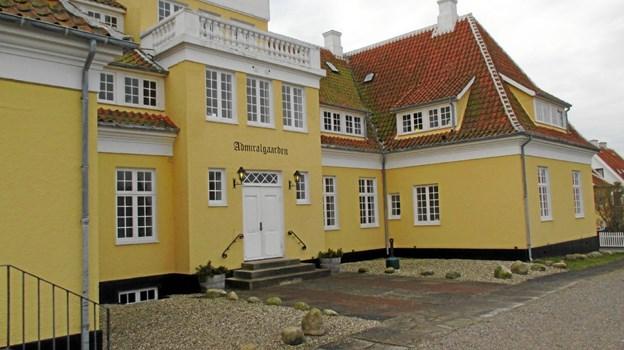 """Admiralgården var Plesners tredje gårdkompleks i Skagen. """"Og forhåbentlig det sidste..."""", som Chr. X. spidst bemærkede. LOKALHISTORISK ARKIV SKAGEN"""