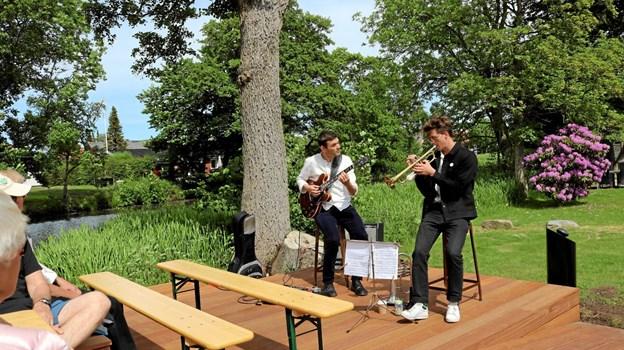 Fisker/Sørensens Duo gav en intens koncert på det nye spillested ved åen. Foto: Tommy Thomsen Tommy Thomsen