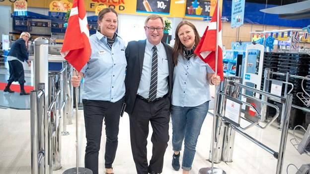 40 års jubilæum. Varehuschef Jørgen Petersen blev fejret af både medarbejdere og gratulanter ude fra. Foto: Henrik Louise