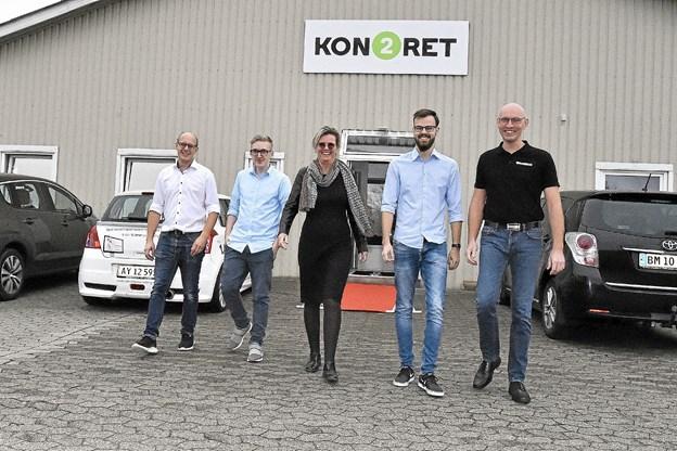 Der er nu fem virksomheder samlet i Kon2ret - men der er plads til flere.