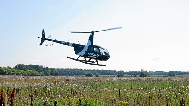 Sidste lørdag var det muligt at se Sindal og omegn fra luften med Sima Helikopter, og det var der flere, der benyttede sig af. Foto: Niels Helver