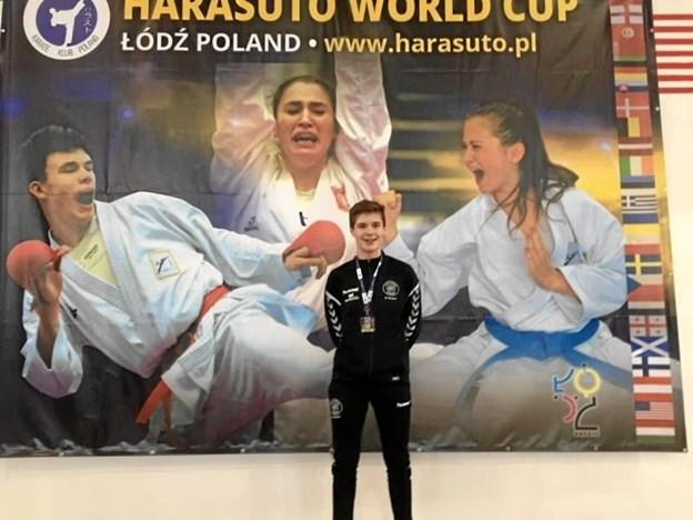 Malthe Beltoft stillede for første gang op i kategorien drenge Cadet (14-15 år) - 70 kg. til det store internationale stævne.