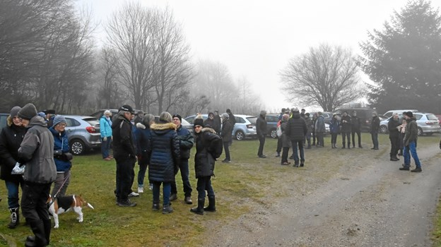 Der mødte ca. 70 deltager op til traveturen. Privatfoto