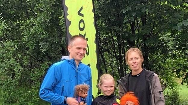 Klubmestre 2019 - fra venstre Jesper Thy, Ida Søe Christiansen og Trine Esmark. Den fjerde mester, Andreas Tange, skyndte sig hjem for at få tørt tøj på. Privatfoto