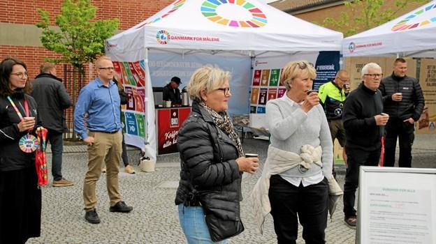 Der var forskellige aktiviteter på Sparekasse torvet. Foto: Flemming Dahl Jensen Flemming Dahl Jensen