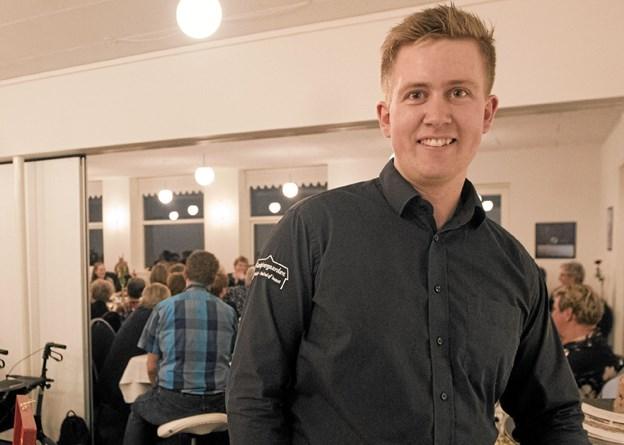 Michael Højer havde for 3. år i træk inviteret til venindeaften på Gæstgivergaarden. Foto: Allan Mortensen Allan Mortensen