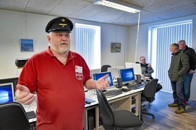 Jens Chr. Jensen, koordinator for hobbymessen er glad for at beslutningen blev truffet om at flytte fra Hanstholm Hallen til BooA i Bedsted. Foto: Ole Iversen Ole Iversen