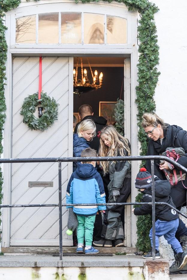Der var julehygge for både små og store. Foto: Nicolas Cho Meier Nicolas Cho Meier