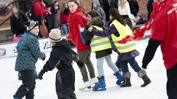 Fra kørdag 10. november er det også muligt at løbe på skøjter i badebyen, Blokhus. Arkivfoto: Henrik Bo