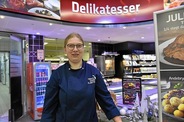 Nana Bloch fra delikatessen i Føtex nåede på podiet og vandt 10.000 kroner for sin tredjeplads i Salling Groups Skills 2018. Foto: Ole Iversen