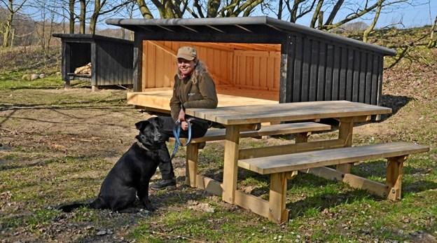 Der er nye shelters klar til foråret ved Slettingen. Privatfoto