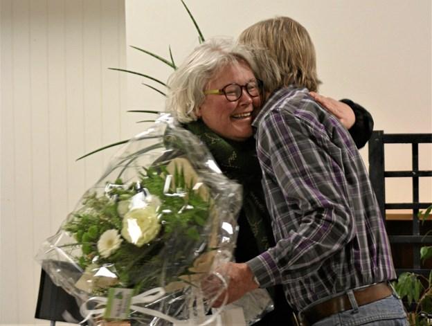 Anita Rokkedal fra AOF fik prisen som årets landsby-ven. Privatfoto