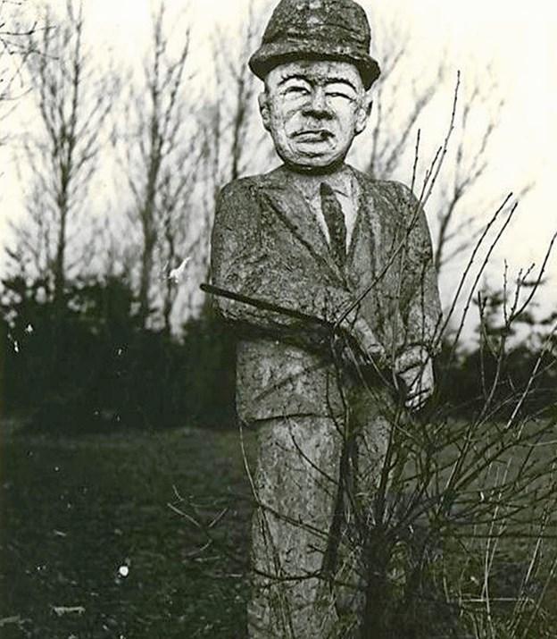 """Anton Laier gav sine figurer navne. Denne fik således benævnelsen """"Praaanger"""". Privatfoto"""