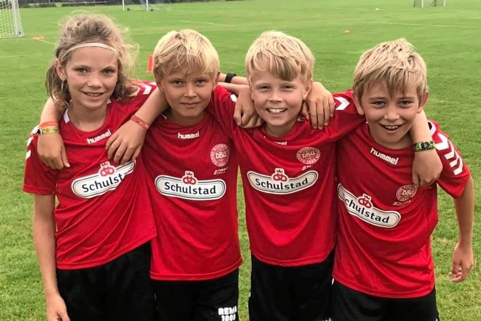 Seje fodboldskoleelever- Foto: SHI
