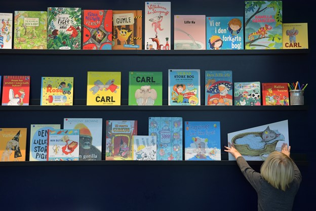 Der skal flere børnebøger på hylderne. Arkivfoto
