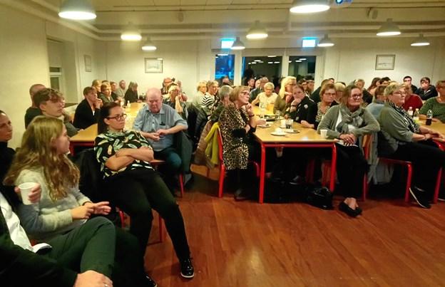 Mange var mødt op for at høre Daniel Svensson.Privatfoto