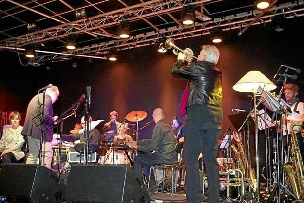 Trompetisten Palle Mikkelsborg - optræder live i aften (tirsdag) på Klejtrup Musikefterskole.' Privatfoto