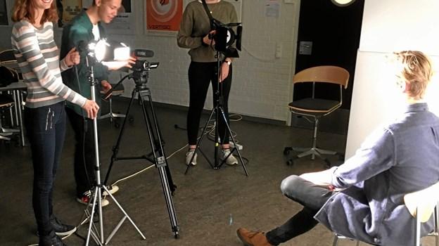Frederikshavn Gymnasium og HF er klar med en ny medielinje på HF. Privatfoto