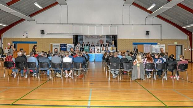 Politisk debat i Overlade var arrangeret af Overlade Friskole. Foto: Mogens Lynge Mogens Lynge