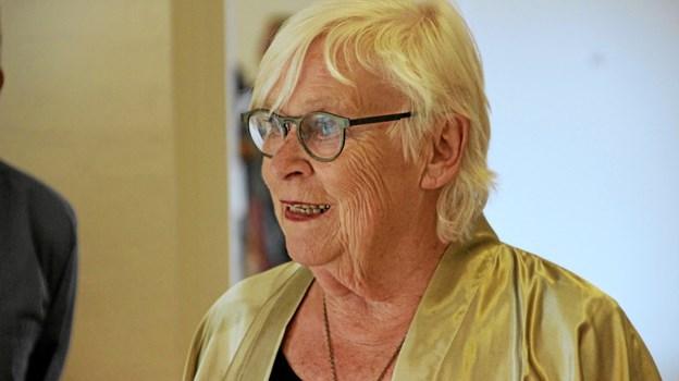 Formanden for Thyholm Kunstforening, Else Marie Lauesen bød alle velkommen. Foto: Hans B. Henriksen Hans B. Henriksen