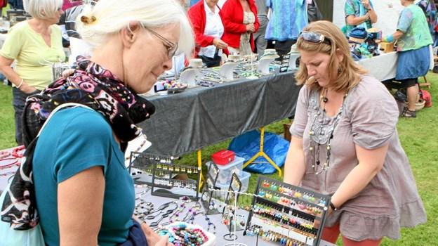21. juli er der kunsthåndværkermarked ved Galleri Hou. Foto: Allan Mortensen