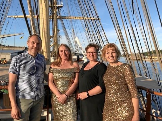 Trioen Miss'Taken står for musikken i forbindelse med Kulturtallerken-arrangementet.  Privatfoto